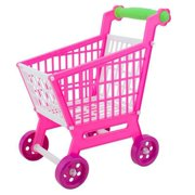 HEQU Children Plastic Shopping Cart Grocery Food Fruit Kids Educational Toy Gift