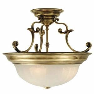 Dolan Designs Classic Lighting (Dolan Designs - 525-30 - Three Light Semi Flushmount - Richland - Royal Bronze)