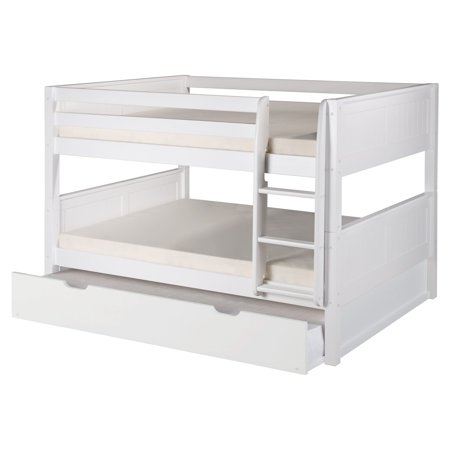 Camaflexi Full Over Full Low Bunk Bed With Twin Trundle