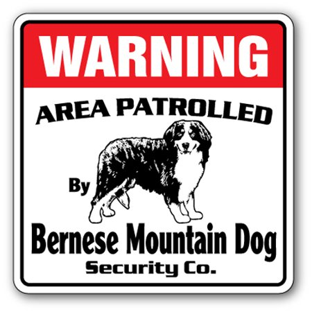 Bernese Mountain Dog Security [3 Pack] of Vinyl Decal Stickers | Indoor/Outdoor | Funny decoration for Laptop, Car, Garage , Bedroom, Offices | - Bernese Mountain Dog Sticker