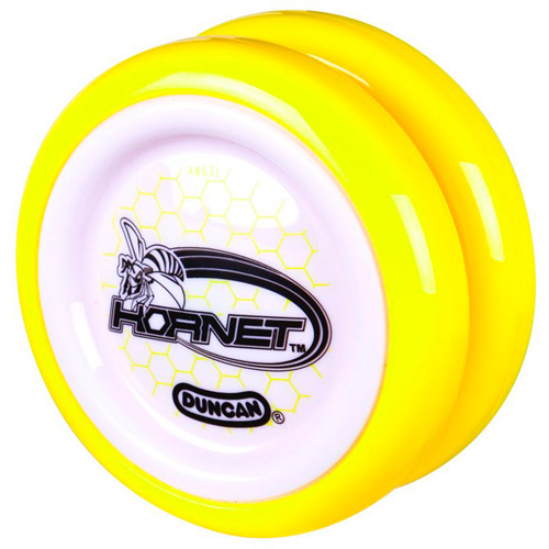 Duncan Hornet Yo-Yo, White with Yellow Rim