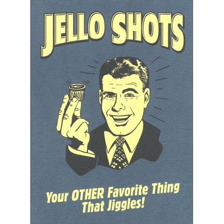 Graphique de France Jello Shots Funny / Humorous Retro Birthday Card - Easy Halloween Jello Shots Recipe