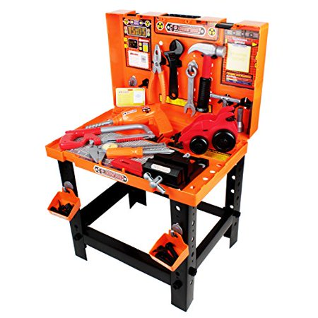 Astonishing Boley Builders Construction Workbench And Toy Tools Set 88 Piece Set Includes Play Hammer Screwdriver Wrench Drill And More Perfect For Caraccident5 Cool Chair Designs And Ideas Caraccident5Info