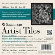Strathmore Artist Tiles, 6in x 6in, Black Artagain