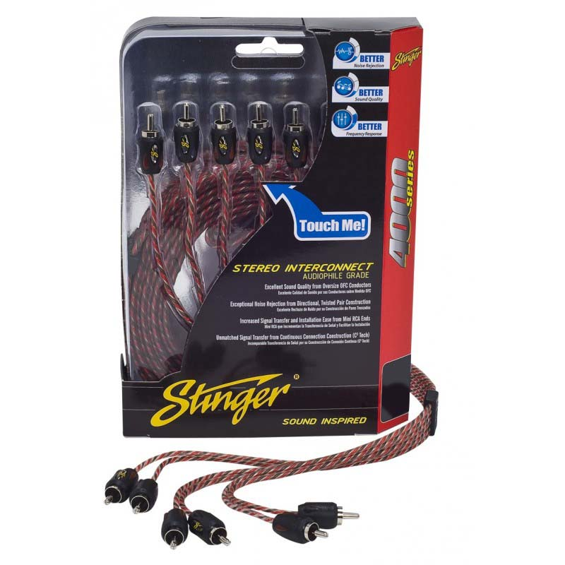 Stinger SI4617 17ft 4000 Series 6 Channel Rca's Directional Twisted
