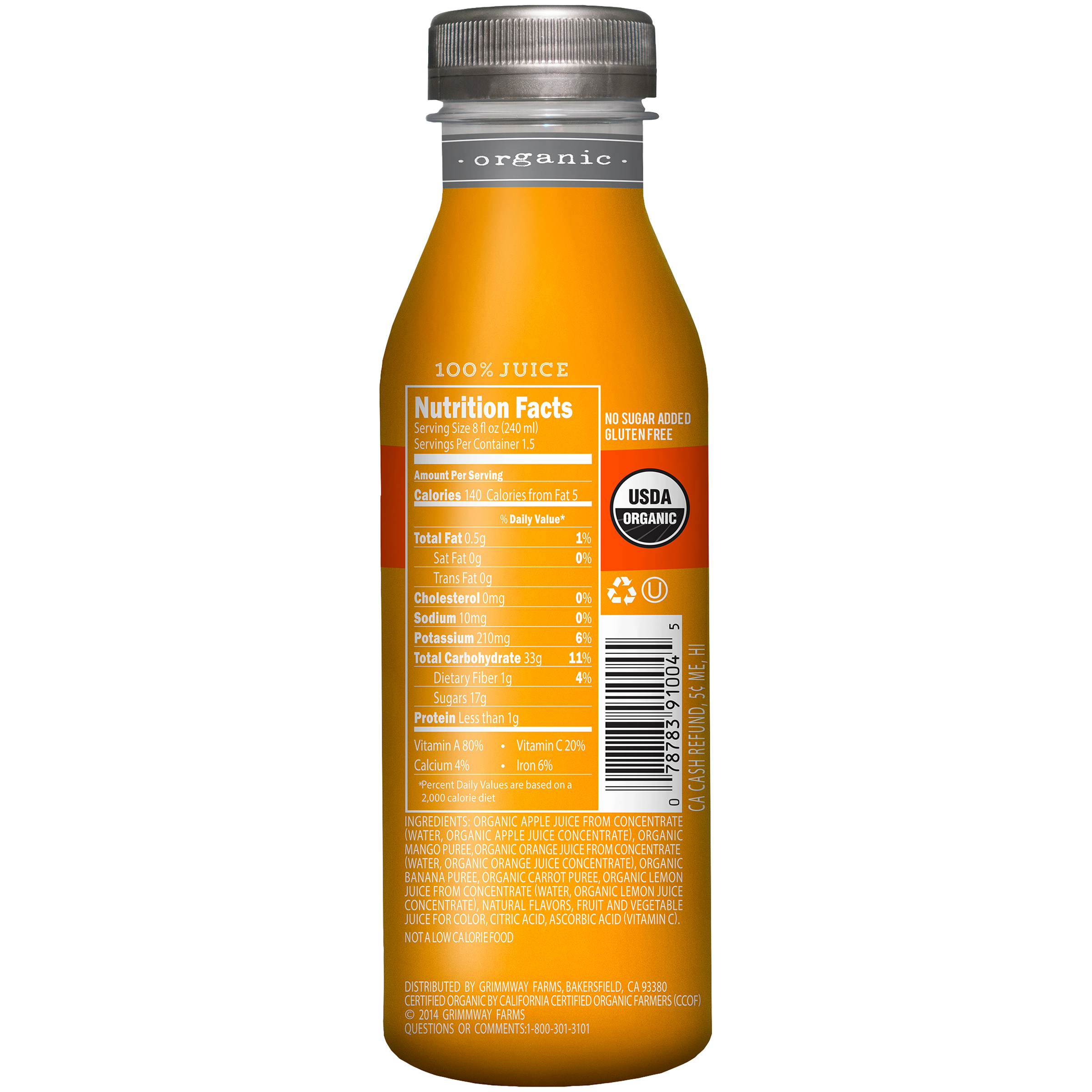 True Organic Organic Tropical Mango Juice 12oz - Walmart com