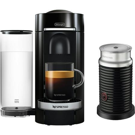 Nespresso Vertuo Plus Deluxe Espresso and Coffee maker Bundle - Black