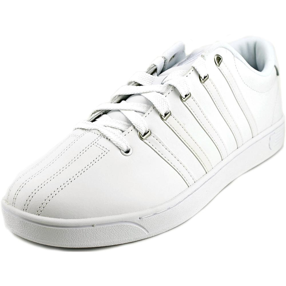 K-Swiss Court Pro II CMF Men Round Toe Leather White Sneakers by K-Swiss