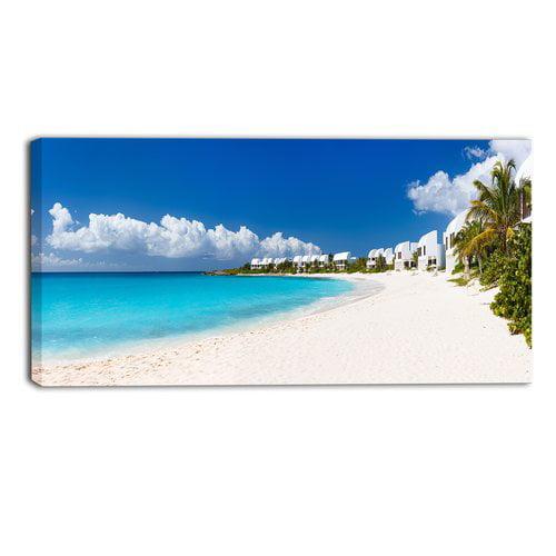 Caribbean Beach: Design Art Caribbean Beach Panorama Landscape Photographic