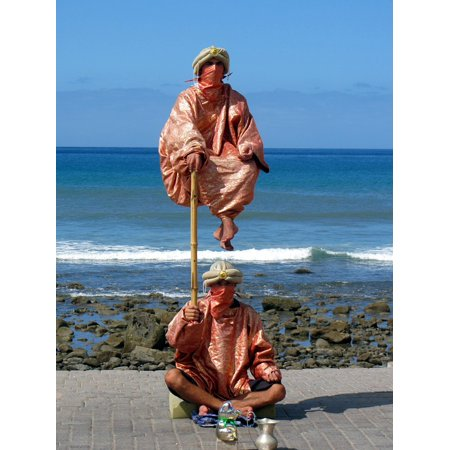 Canvas Print Juggle Beach Jester Water Stretched Canvas 10 x - Juggling Supplies