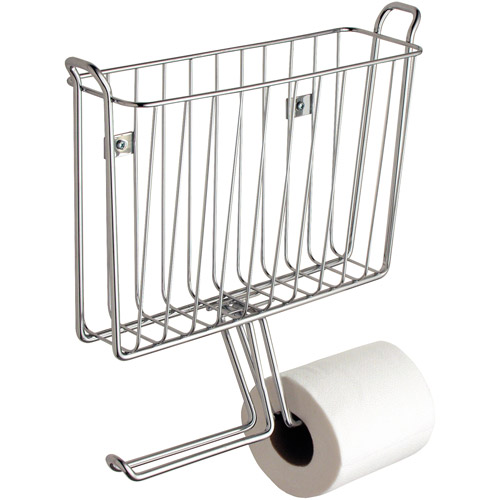 InterDesign Classico Wall Mount Toilet Paper Roll Holder with Magazine Rack by Generic