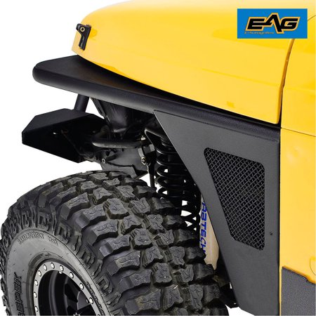 Eag Eag Front Fender Flare Flare Weagle Lights Steel For 97 06 Jeep Tj Wrangler