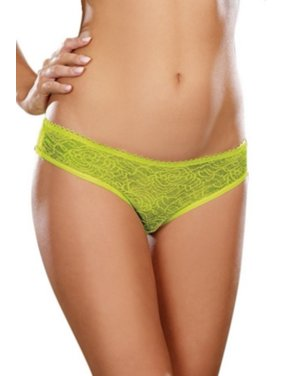 46c2bfc26 Product Image Dreamgirl Lime Crotchless Lace Panty 1300 Lime