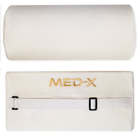 Lumbar Roll Back Support Pillow For Chair Backrest Cushion Office Pain Relief From |Degenerative Disc Disease Spondylolisthesis Piriformis Syndrome | Medical Grade by Med-X