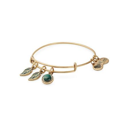 Grounded Goldtone Charm Bangle Bracelet
