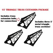 3x 5ft Lighting Triangle Bolted Truss 15' span Stand Universal DJ Metal 5'