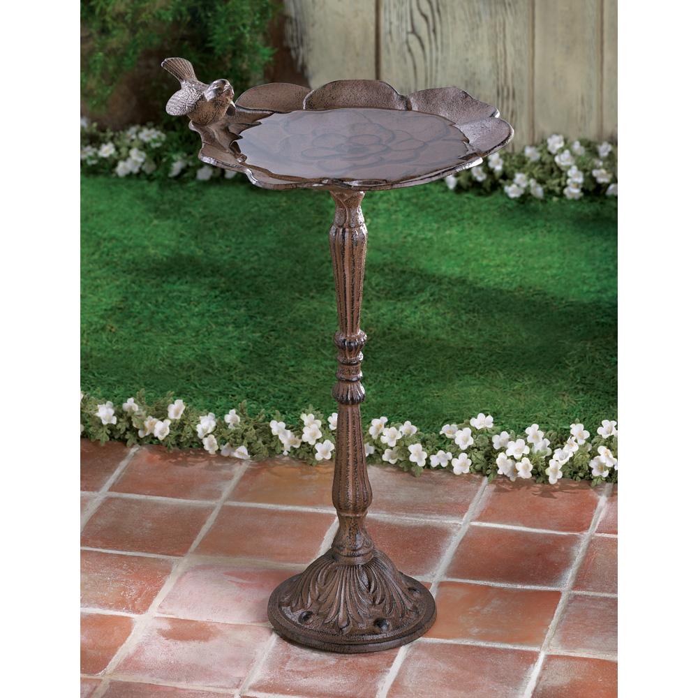 Modern Bird Bath, Cast Iron Garden Ground Bird Bath With Stand ...