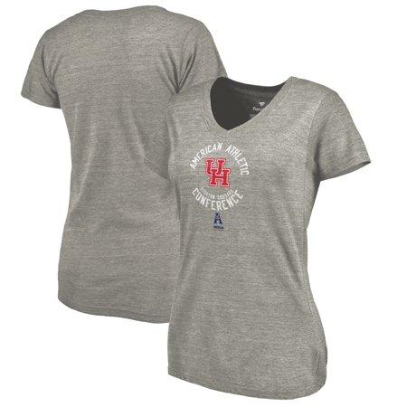 Houston Cougars Ladies Conference Stamp Tri-Blend V-Neck T-Shirt - Ash](Halloween Conference Houston)