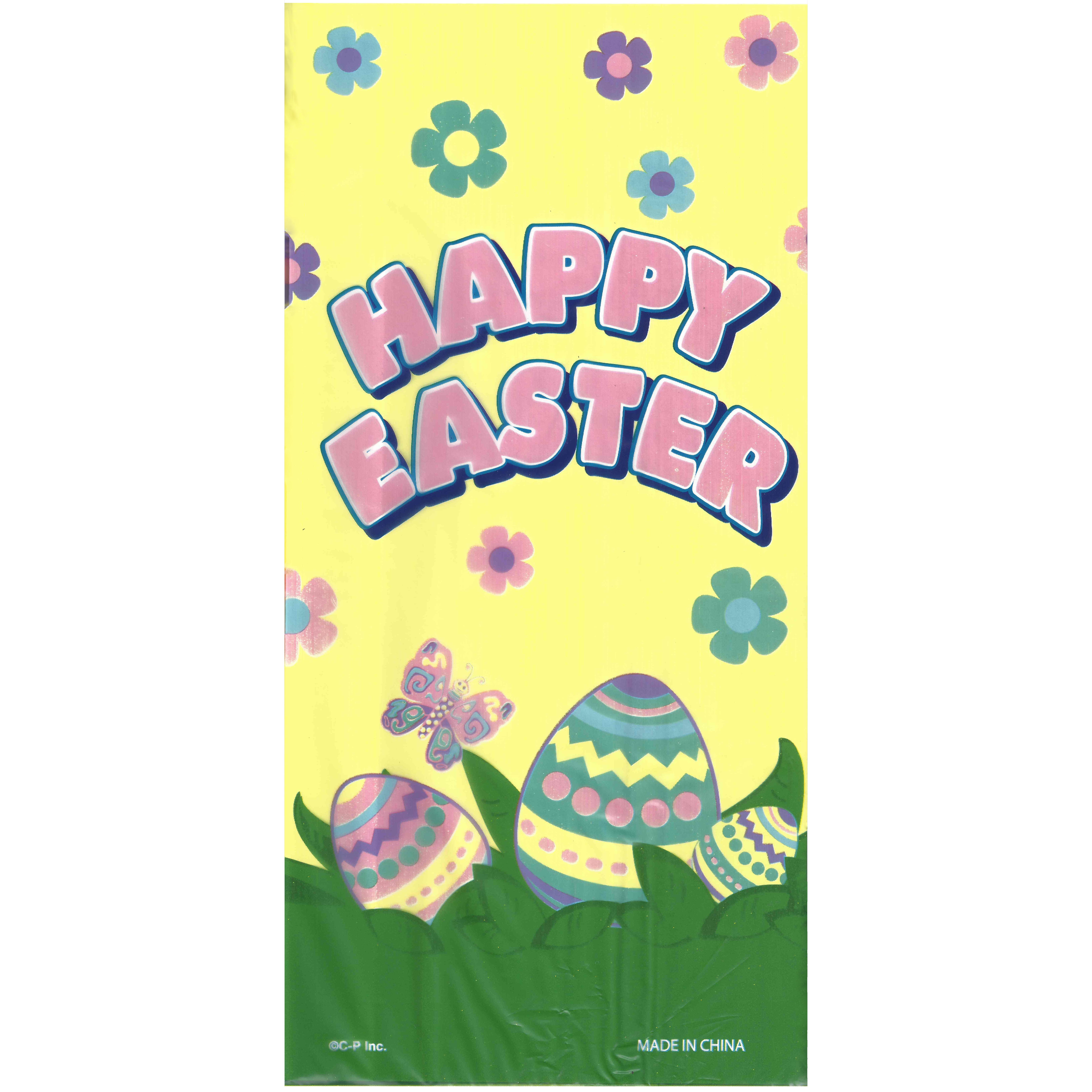 "Happy Easter Cello Basket Bags 12 pc 10"" Gift Party Favor Supplies Yellow"