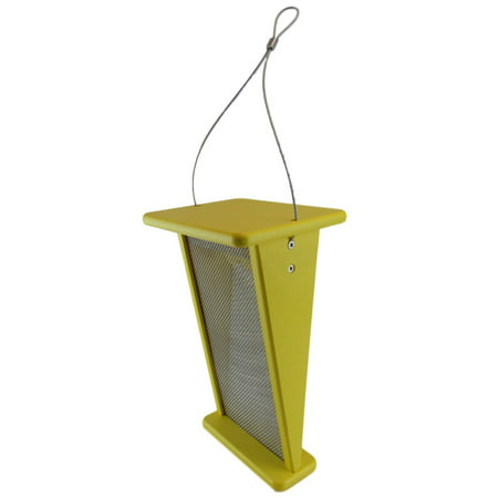 JCs Wildlife 12 Inch Recycled  Poly Lumber V Goldfinch Thistle Nyjer Feeder