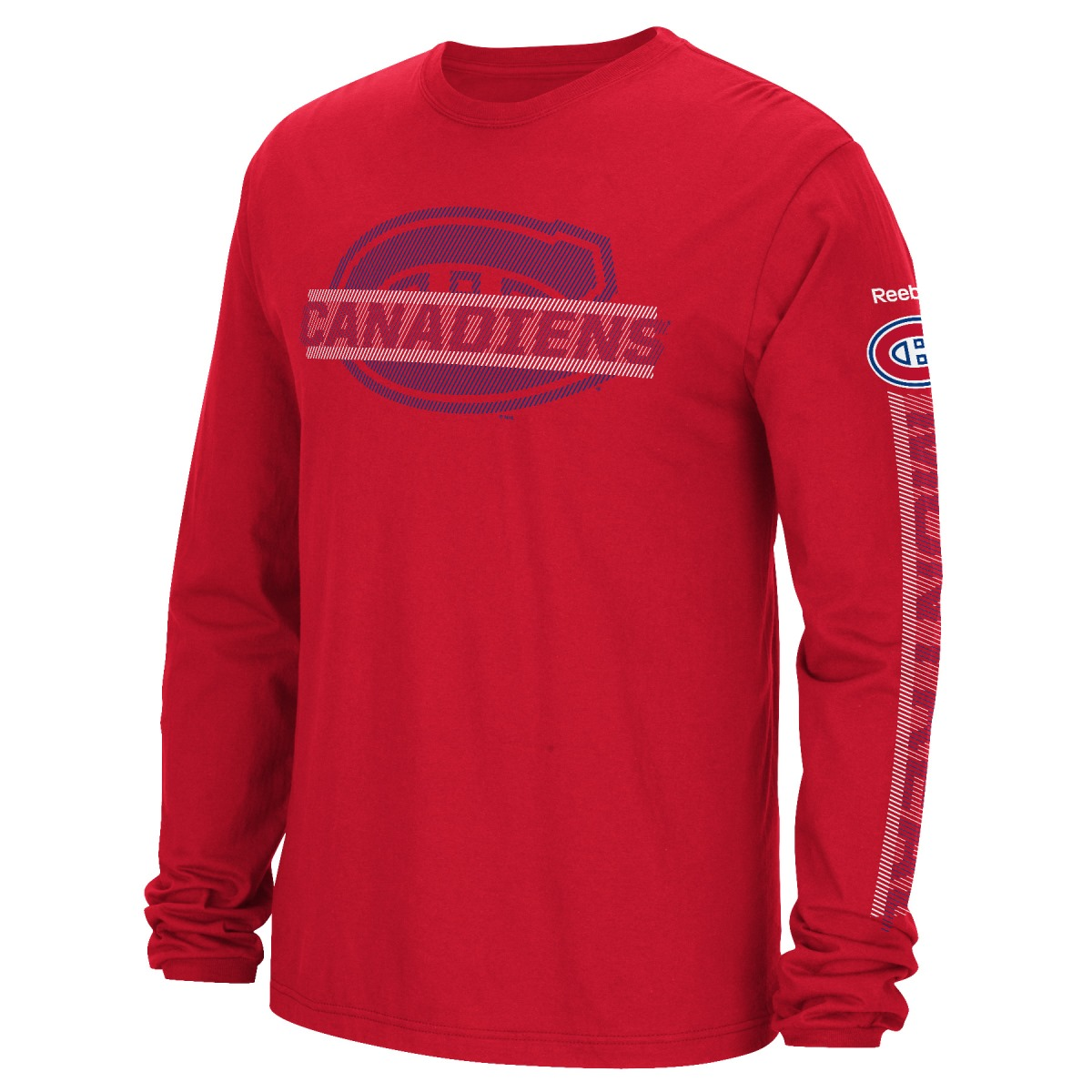 "Montreal Canadiens Reebok NHL Men's ""Lineup"" Long Sleeve T-Shirt"