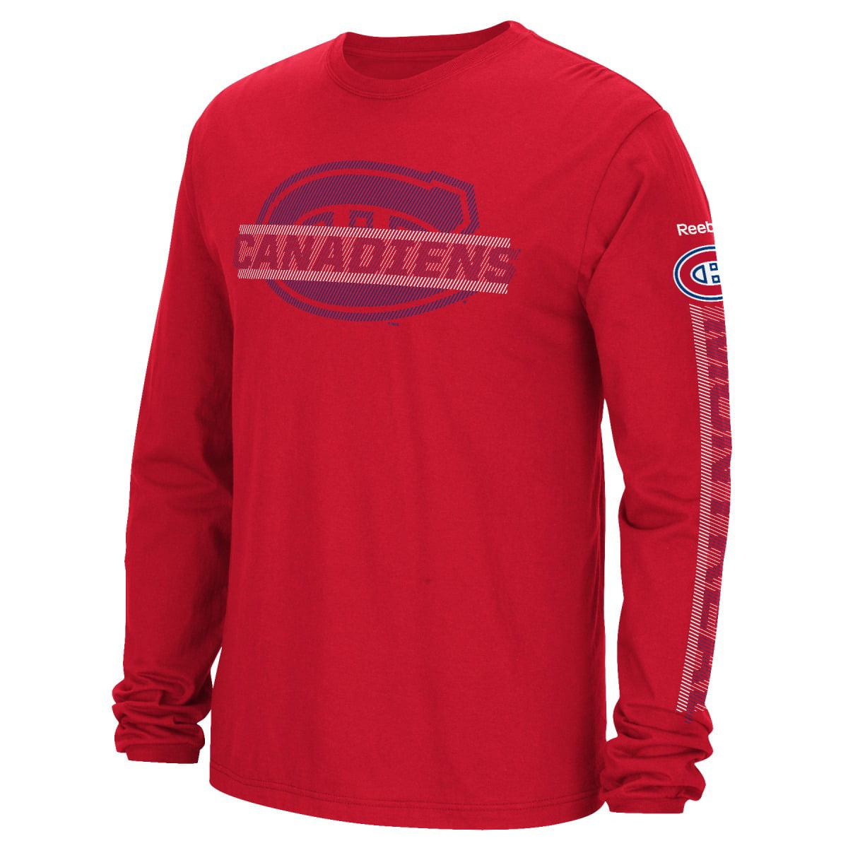 "Montreal Canadiens Reebok NHL Men's ""Lineup"" Long Sleeve T-Shirt"