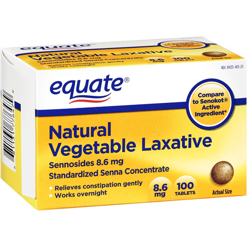 Equate: Natural Sennosides 8.6 Vegetable Laxative, 100 ct