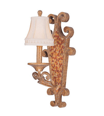 World of Lighting WL48712 Wall Sconces Gold Leaf Wrought Iron Monterey