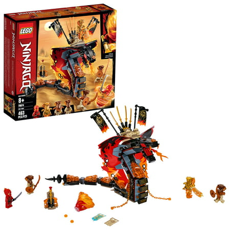 LEGO NINJAGO Fire Fang 70674 Snake Action Building Toy for Kids with Ninja Minifigures (463 pieces)