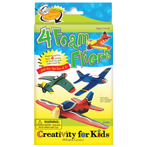 Creativity for Kids: 4 Foam Flyers Kids Foam Craft Kit