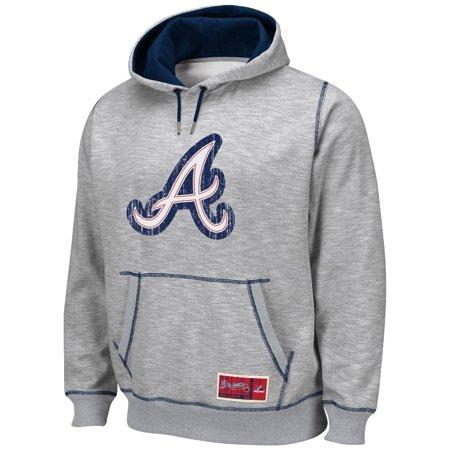 "Atlanta Braves Majestic MLB ""Tradition"" Hooded Sweatshirt Grey by"
