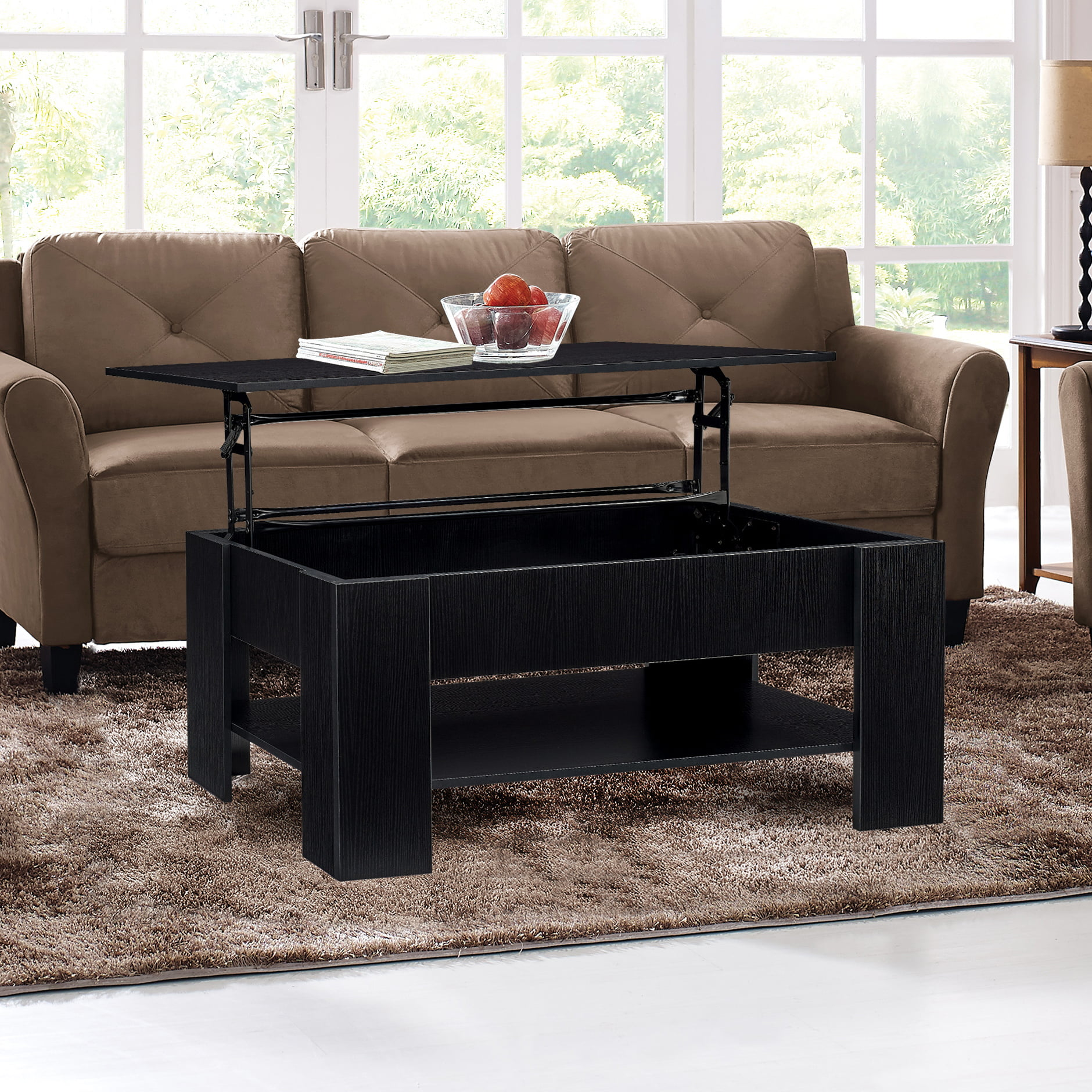 Lifestyle Solutions Cairo Functional Coffee Table Black