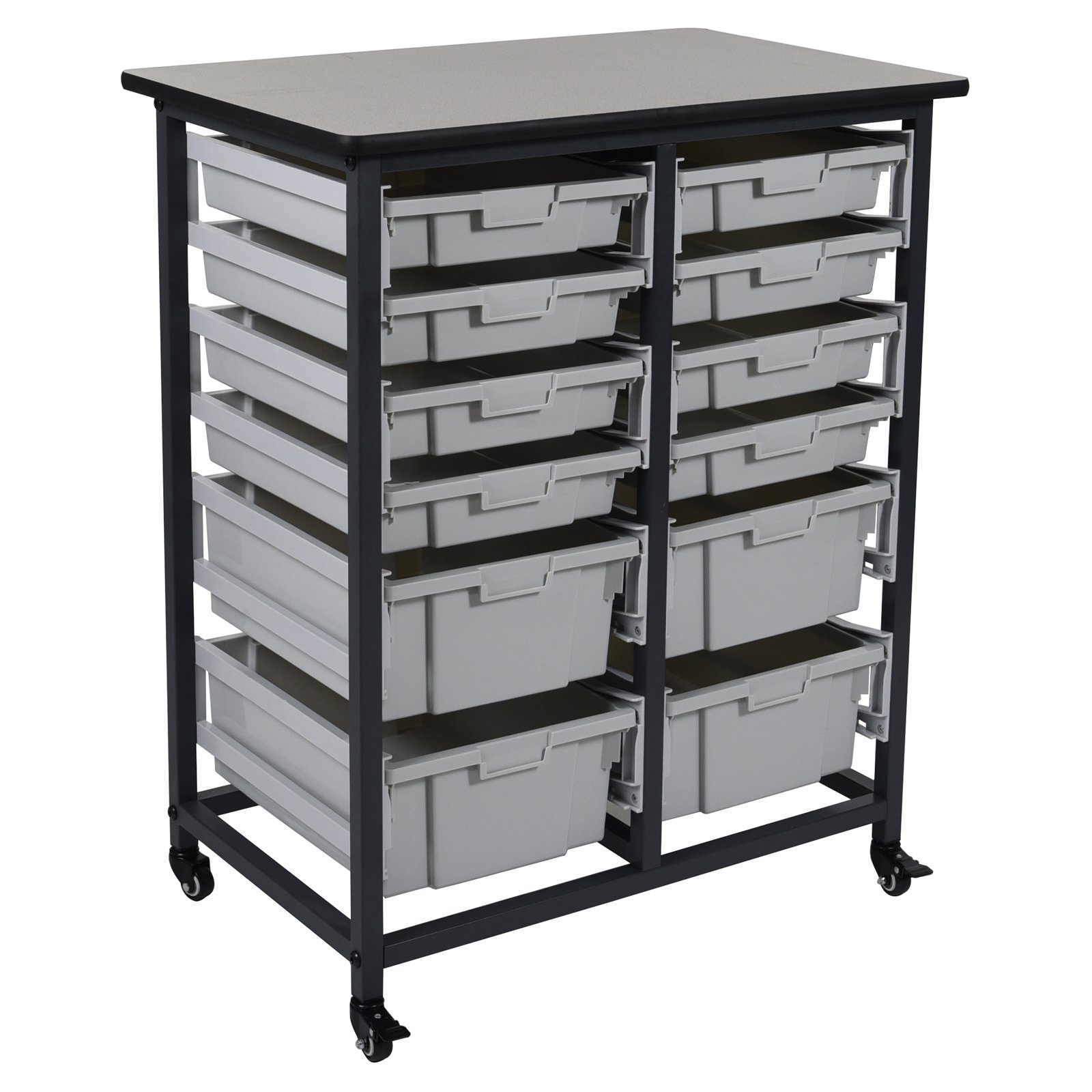 Luxor 12 Drawer Double Row Mobile Bin System
