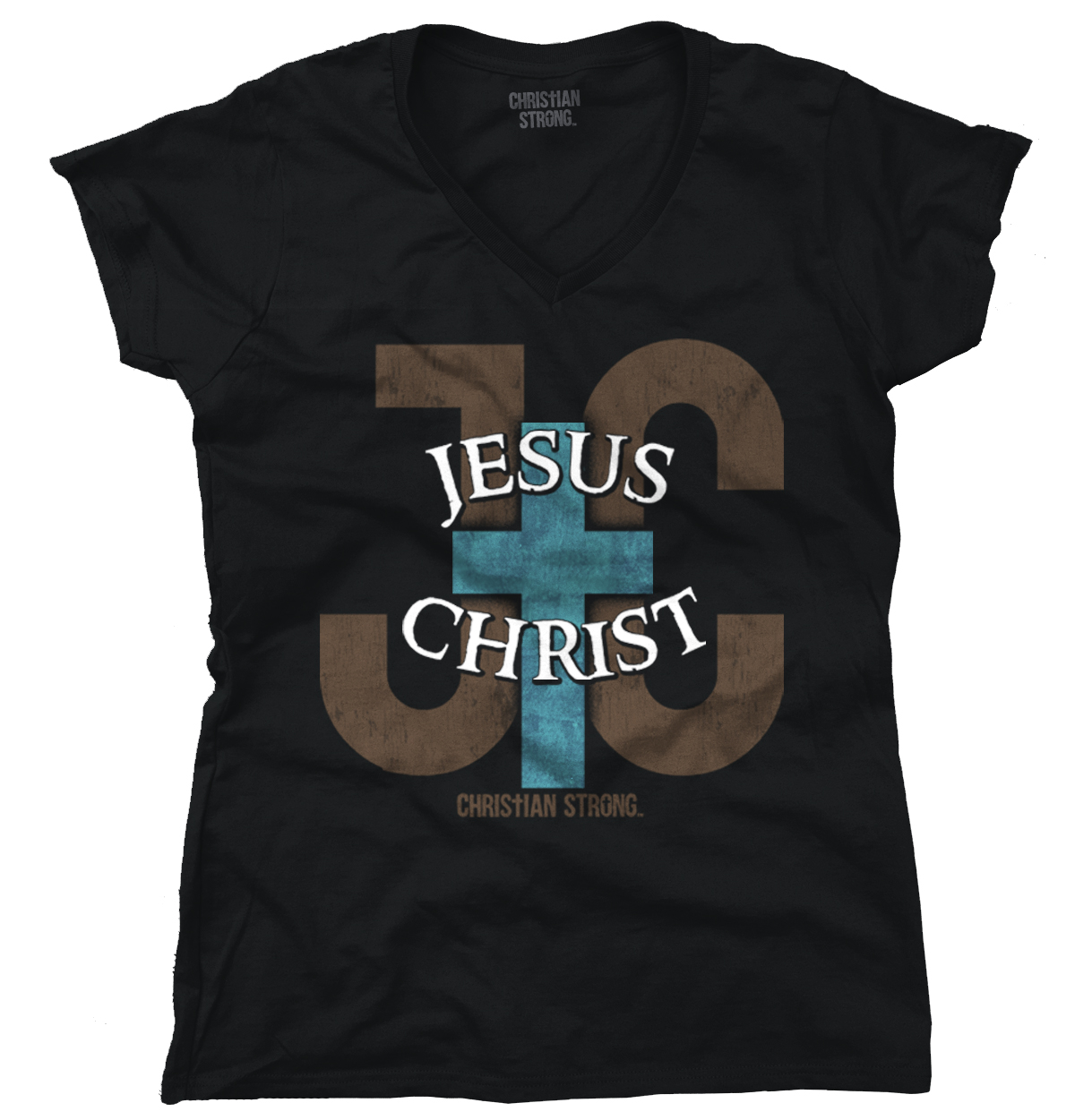 Jesus Christ JC Christian Shirt | Cool Religious Gift Bible Junior V-Neck Tee