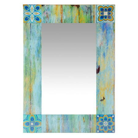 Infinity Instruments Shabby Chic Country Mosaic Rectangle Wall Mirror - 19.75W x 27.5H in.