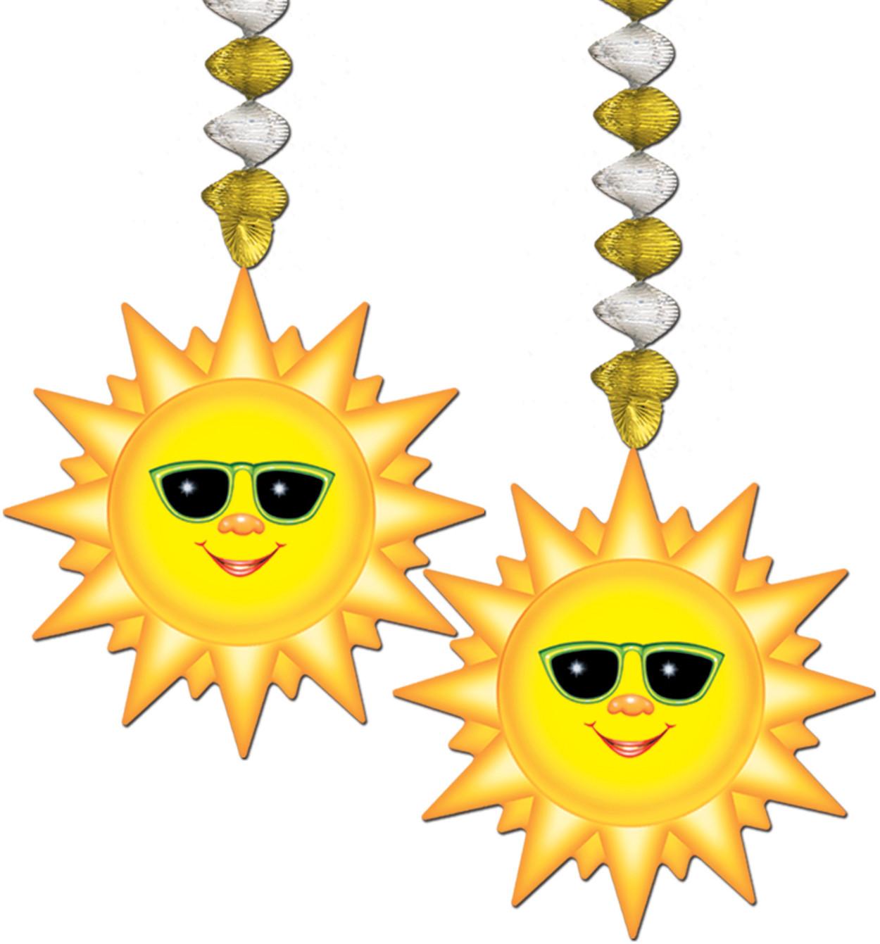 Cartoon Sun Celebration Streamers Hangers Danglers Decoration 2 Pack
