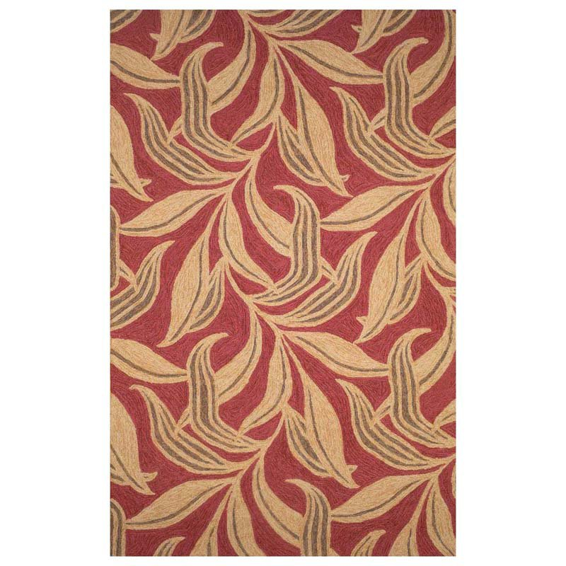 Liora Manne Ravella Leaf Indoor/Outdoor Rug - Red