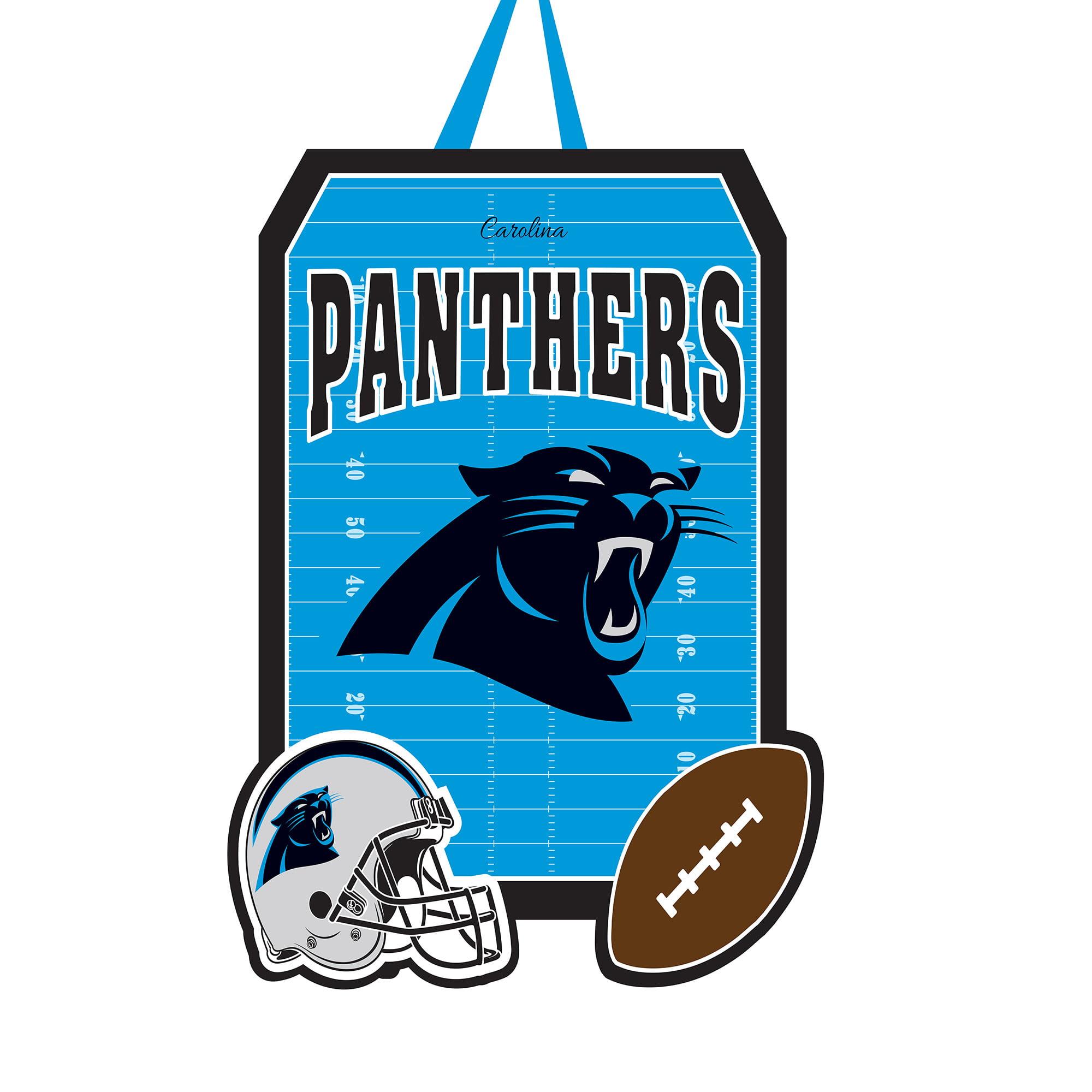 """Carolina Panthers 20.5"""" x 16.5"""" Felt Door Decor Wall Banner - No Size"""