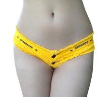 Super Sexy Women Low Waist Triangle Shorts Zipper Panties