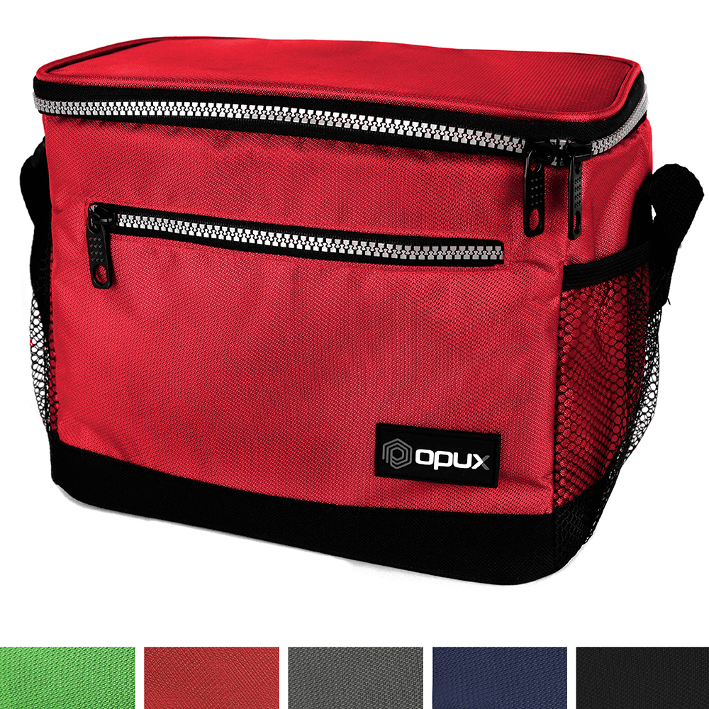 OPUX Premium Insulated Lunch Bag with Shoulder Strap | Lunch Box for Adults, Kids | Soft Leak Proof Liner | Medium Capacity Lunch Cooler for Office, School | Fits 6 Cans