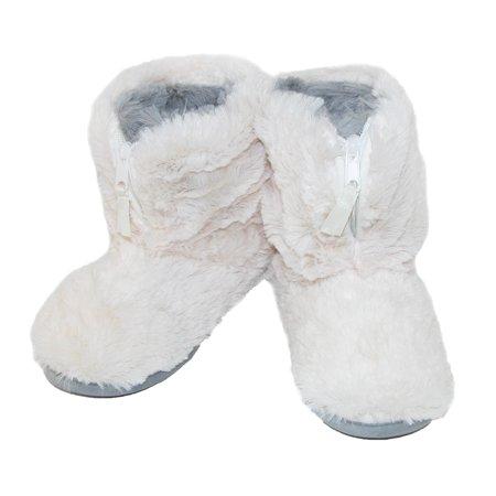 68922c3d76e Dearfoams Women's Pile Boot Slipper with Zipper and Memory Foam