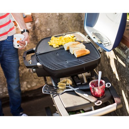 Napoleon TravelQ 285 Portable Compact Propane Gas Grill with Scissor Cart, (Best Compact Gas Grill)