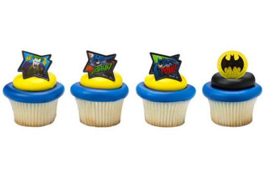 24 Batman Movie Cupcake Cake Rings Birthday Party Lego Favors Cake
