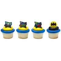 24 Batman Movie Cupcake Cake Rings Birthday Party Lego Favors Cake Toppers
