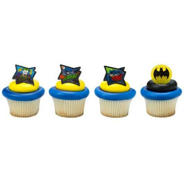 Peachy 24 Batman Movie Cupcake Cake Rings Birthday Party Lego Favors Cake Personalised Birthday Cards Cominlily Jamesorg