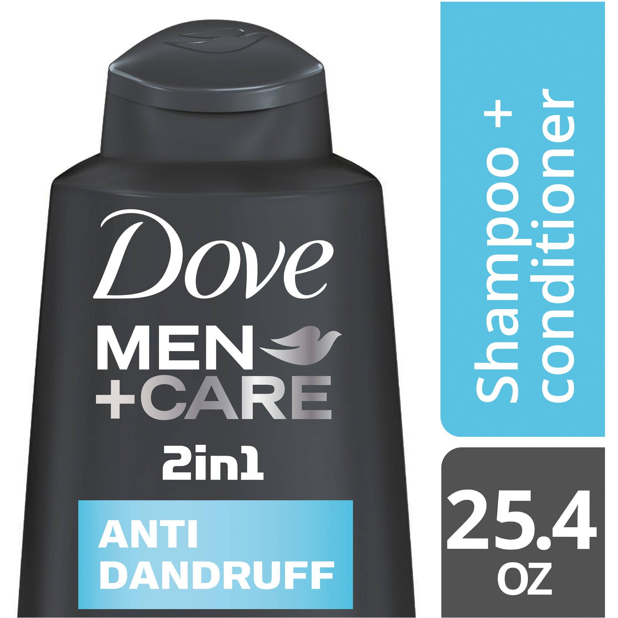 Dove Men+Care Anti Dandruff 2 in 1 Shampoo and Conditioner, 25.4 oz