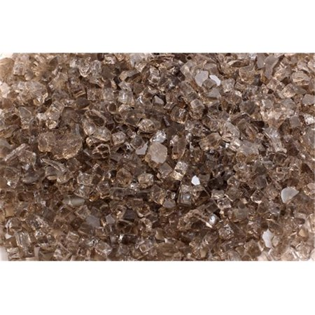 FireGlass Plus Q-B-10 Quarter Inch Bronze Fire Glass, 10 Pound Bag
