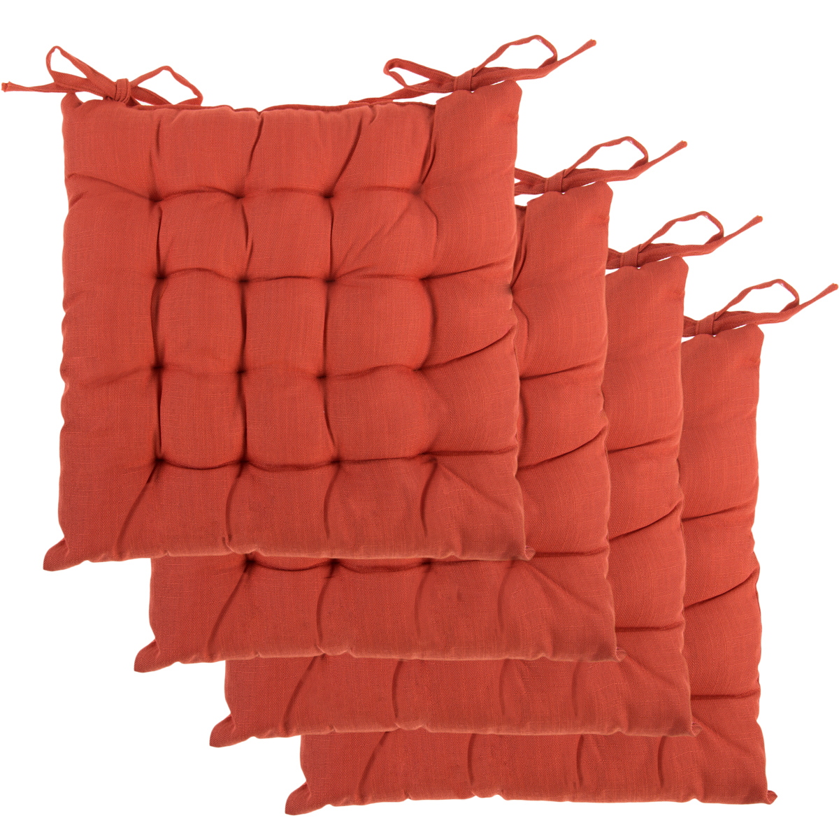 Gentil Dream Home (Set Of 4) Indoor Chair Pads Inches Square Tufted Seat Cushions  Pillows With Ties   Walmart.com