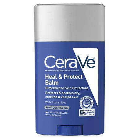CeraVe Heal & Protect Balm, No-Touch Stick, Protects and Soothes Dry, Cracked & Chafed Skin 1.5 oz.