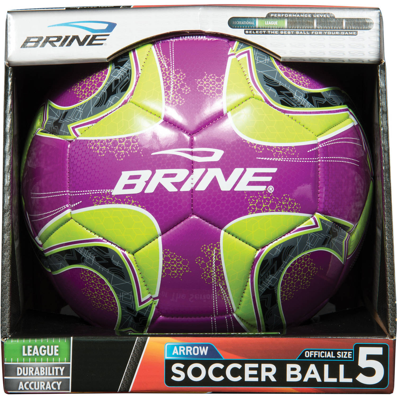 Brine Arrow Soccer Ball, Purple, Size 5